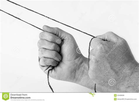 String Pulling - pulling strings royalty free stock images image 25408589