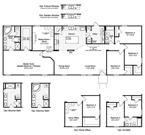 the harbor house iii ft28764a manufactured home floor plan