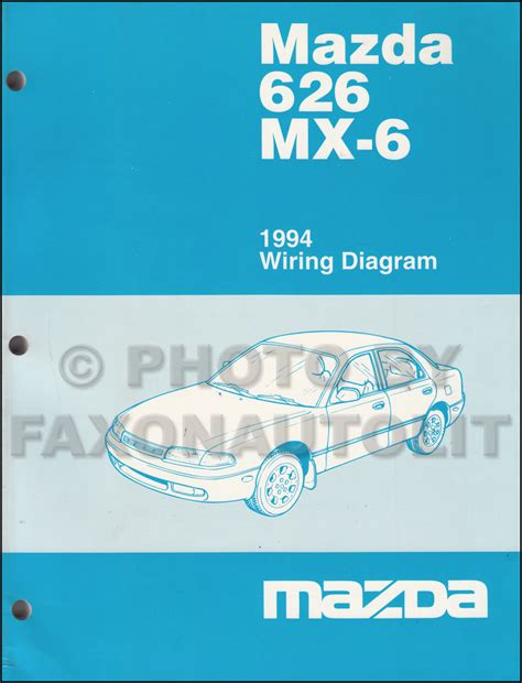 auto repair manual online 1994 mazda mx 6 electronic toll collection 1994 mazda 626 and mx 6 body electrical troubleshooting manual original