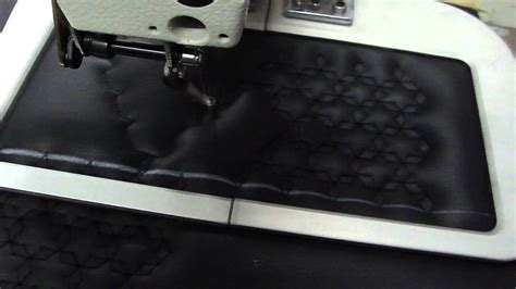 how to sew leather upholstery pattern sewing machine on car seat youtube