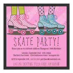 skating invitation template free roller skating birthday invitation 5 25 quot square