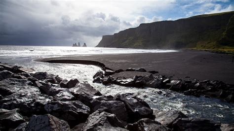 black sand beach iceland iceland black beach magnificent and dangerous