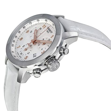 Chronograph Silver White tissot prc200 chronograph silver white leather t0552171603201 prc200 t