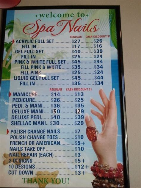17 Best Images About Nail Menu On Pinterest Us Nails Pedicures And Salon Services Pedicure Menu Template