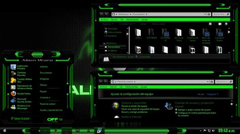 alienware themes for windows 7 green alienware green theme for windows 7