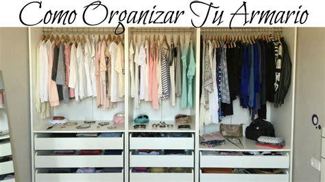 como organizar tu armario ideas trucos  decoracion del closet youtube