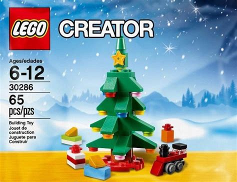 lego creator christmas tree 65 piece set polybag 30286
