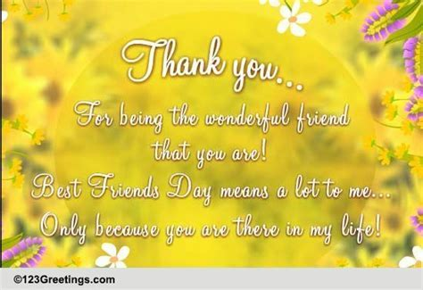 Thank You  My Best Friend! Free Thank You eCards