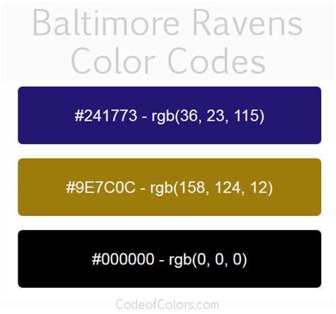 ravens colors baltimore ravens colors hex and rgb color codes