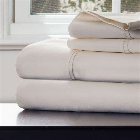 perfect thread count for sheets lavish home 4 piece ivory 1000 count cotton sateen king