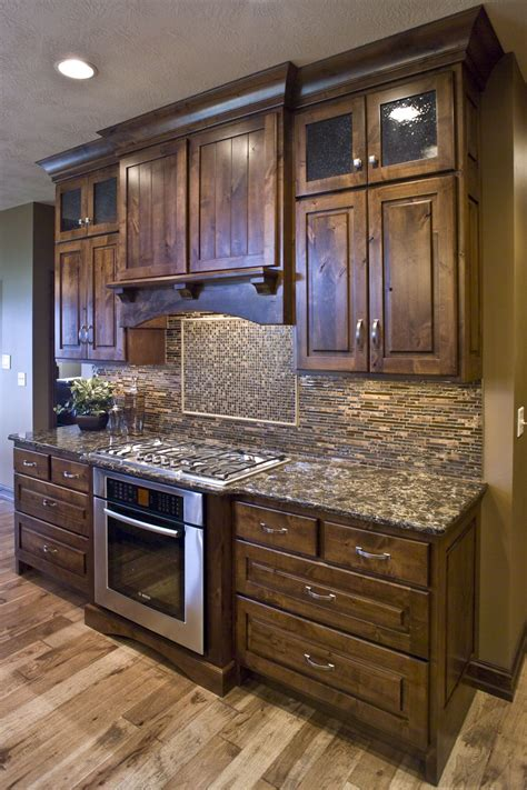 alder wood kitchen cabinets knotty alder kitchen cultivate com home ideas