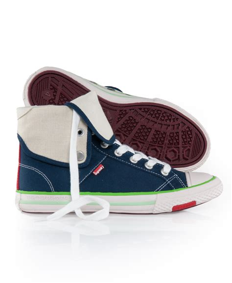 new womens superdry series fold trainers shoes