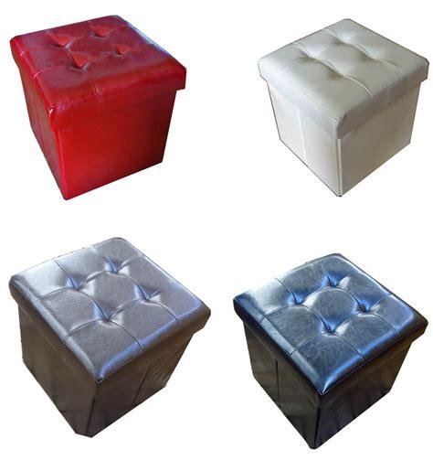 Cube Storage Stool by Padded Seat Box Sitting Stool Stool Seat Cube Storage Box Footrest Ebay