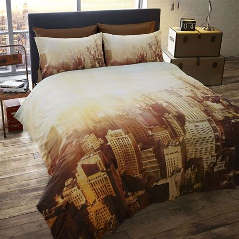 Nyc Set new york city bedding single duvet cover sets usa skyline landmarks bedroom ebay