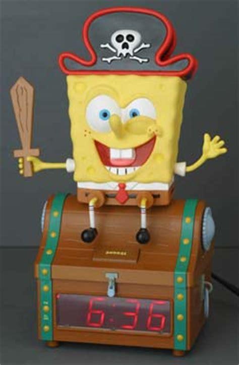 spongebob squarepants treasure chest clock radio