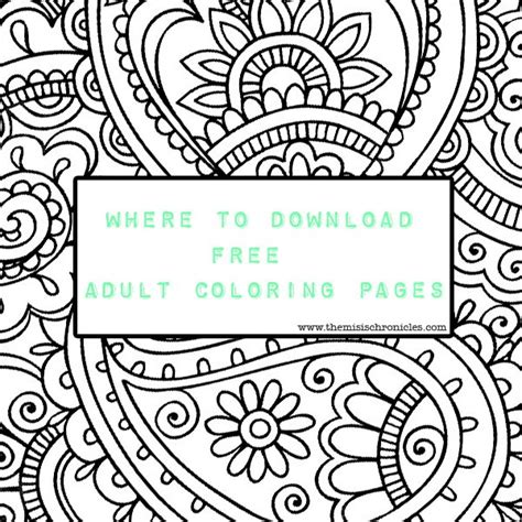 where to download free adult coloring pages the misis