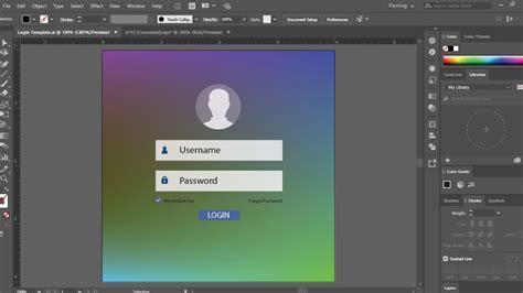 tutorial u design ui ux design tutorial learn how to make a login template