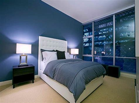 bedroom special design of the dark blue bedroom ideas