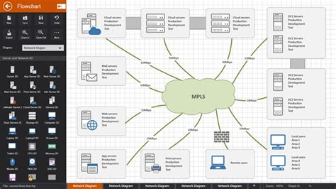 network layout app flowdia diagrams for windows 8 and 8 1