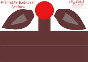 Rudolph Antlers Template by Reindeer Antlers Template Free Printable Review Ebooks