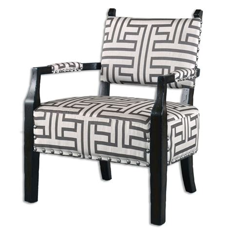 geometric accent chair terica geometric accent chair 23217