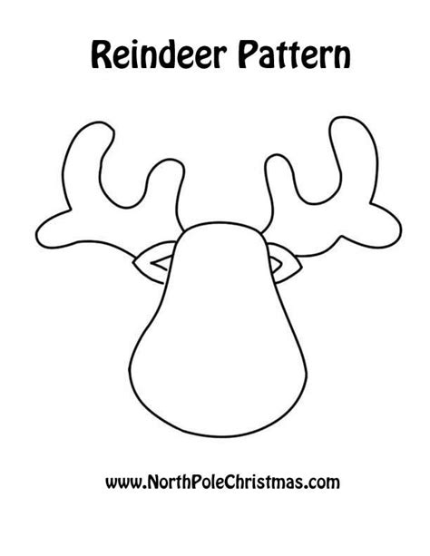 printable reindeer antlers pattern reindeer their website has all kinds of free patterns to