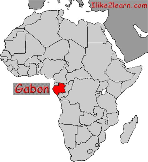 where is gabon on the world map gabon