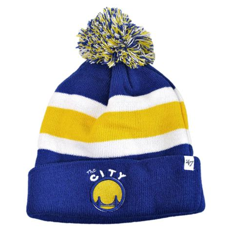 golden state warriors knit hat 47 brand golden state warriors nba breakaway knit beanie