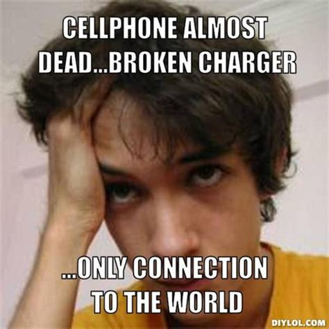 Broken Phone Meme - how to charge a smartphone with a broken charging port or
