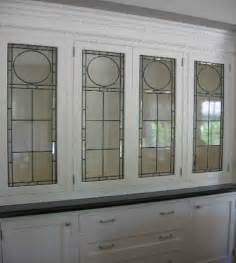 Kitchen Cabinet Glass Door Inserts Leaded Glass Cabinet Inserts For The Home