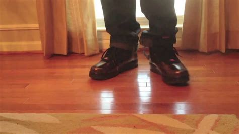 bhm foamposite air force   feet review youtube
