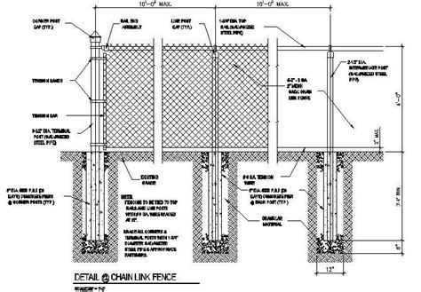 Design Your Own Home Louisiana cad dwg drawing of a chain link fence cadblocksfree cad