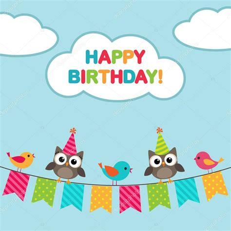 imagenes de happy birthday free tarjeta del feliz cumplea 241 os con b 250 hos vector de stock