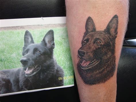 german shepherd tattoo german shepherd portrait 171 gailz tattooz precision skin