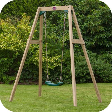 swing wooden wooden single swing set free delivery outdoor playground