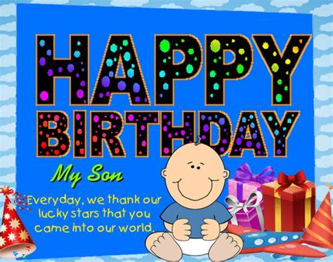 Happy Birthday My Son. Free For Son & Daughter eCards