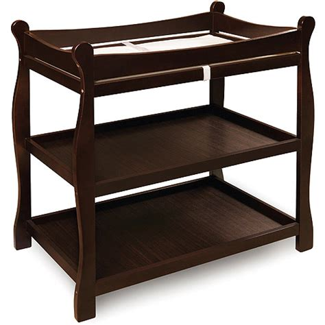 Baskets For Changing Table Badger Basket Sleigh Changing Table Espresso Walmart