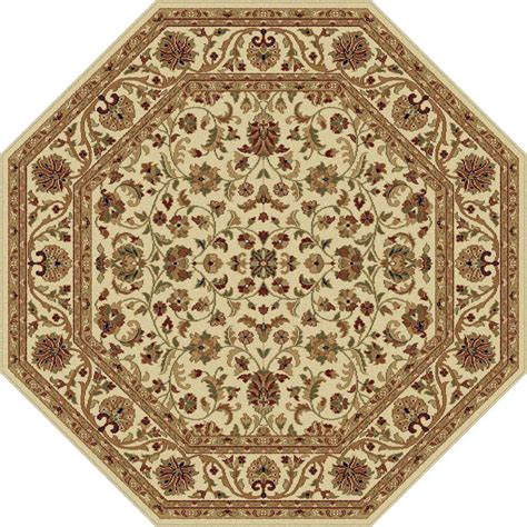 Octagon Rug by Tayse Rugs Sensation Beige 5 Ft 3 In Octagon