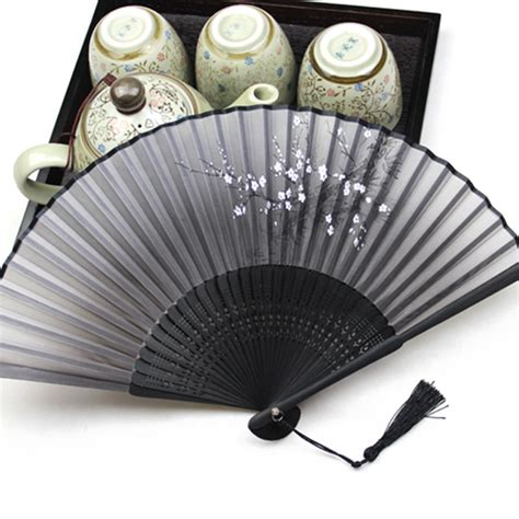 disney hand held fans bamboo chinese japanese held silk hand folding asian
