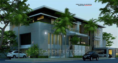 desain rumah hook rumah mewah minimalis 3 lantai kavling hook contoh