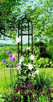 garden obelisk trellis metal gardman classical metal garden obelisk 2m high climbing