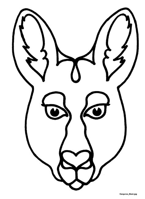 printable wombat mask free coloring pages of insect masks