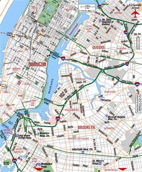 printable queens map hospital map for brooklyn brooklyn new york