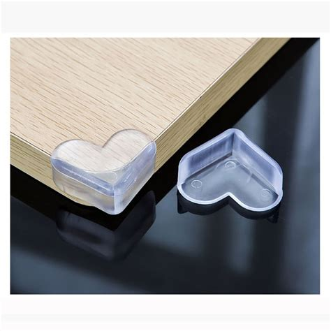 heart shape soft silicone baby safety protector glass