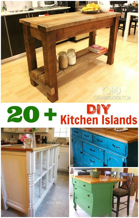 diy kitchen islands ideas diy kitchen island ideas and inspiration