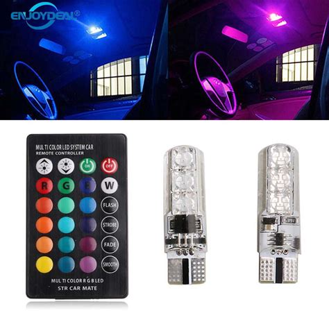 Lu Led T10 5 Smd 5050 Strobe Flash 2 Modes Led Operation White coluorful car led light t10 6 smd 5050 rgb 16 color led w5w automotive led bulb flash strobe