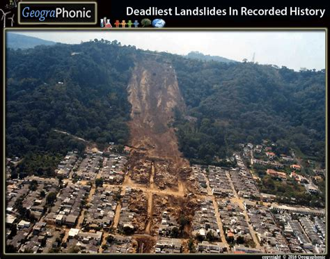 deadliest landslides  recorded history