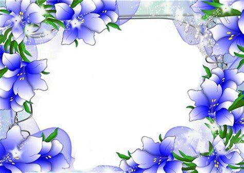 flower design for project beautiful blue flower border design border design page