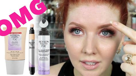 Revlon Youth Fx drugstore wear test revlon youth fx line