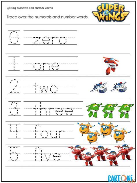 numeri in lettere inglese esercizi inglese scrivi i numeri da 1 a 5 con i